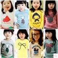Novo varejo crianças dos desenhos animados manga longa T camisa crianças meninas meninos camisa T / T camisa / crianças de t-shirt