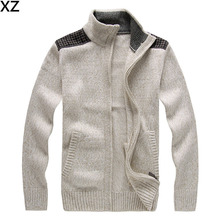 2016 NEW Brand Warm Thick mens Cardigans Sweaters Men Winter&spring Sweater Tops stand Collar Men slim Casual