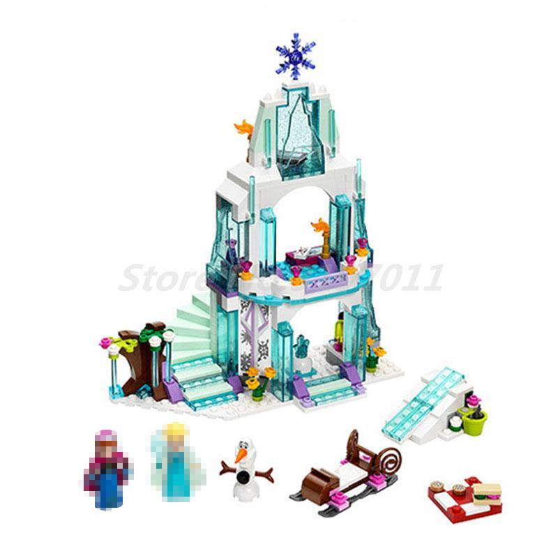 LELE 79168 Princess Elsa Ice Castle  Friends Series Model Building Block Set DIY Toys for Girl Gift Compatible with 41062