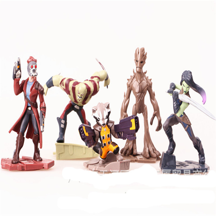 5pcs/set 2017 Guardians of the Galaxy Vol. 2 action figure ...