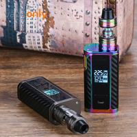 Vapeonly PD1865 Starter Kit With 225W Box MOD & 3.6ml Captain Mini Tank Atomizer Electronic Cigarette Vaprozier No 18650 Battery