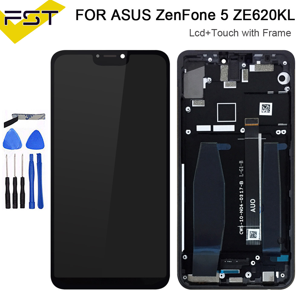 6.2For Asus Zenfone 5 2018 Gamme ZE620KL LCD Display+Touch Screen Digitizer Assembly With Frame For ASUS 5Z ZS620KL LCD6.2For Asus Zenfone 5 2018 Gamme ZE620KL LCD Display+Touch Screen Digitizer Assembly With Frame For ASUS 5Z ZS620KL LCD