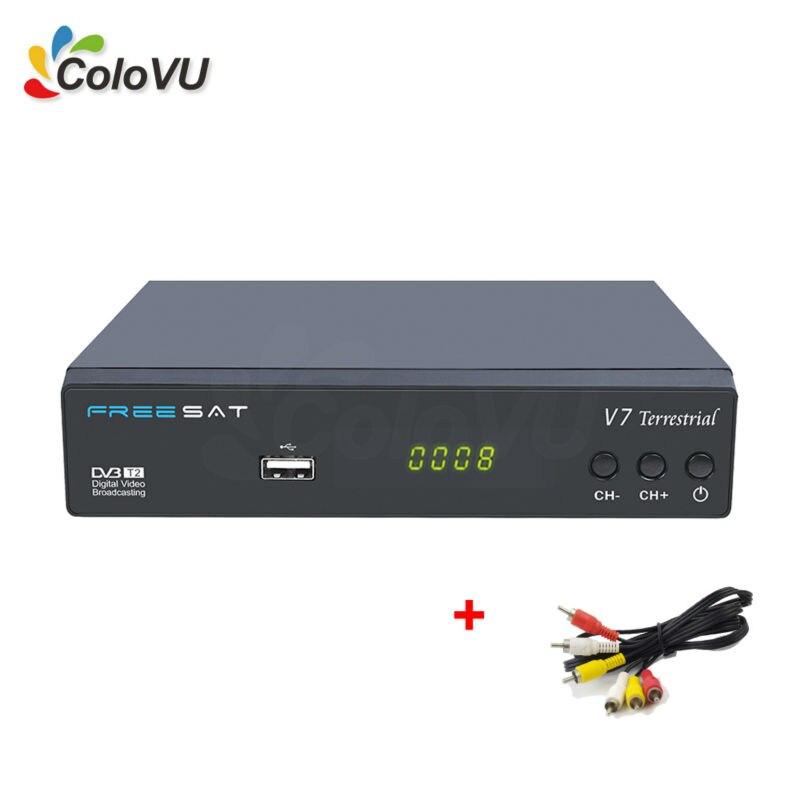 5 unids Terristrial TV Receptor FreeSat V7 Terristrial DVB-T/T2 Digital Full HD