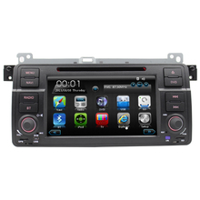 can bus bluetooth multimedia system car dvd player for BM E46 with bluetooth steering wheel control RDS reversing camera swc FM