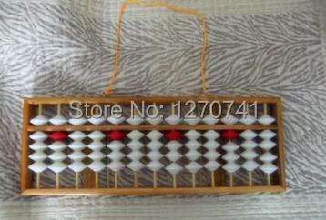 ФОТО high quality 13 column wood hanger  Abacus Chinese soroban Tool In Mathematics Education  for teacher XMF023