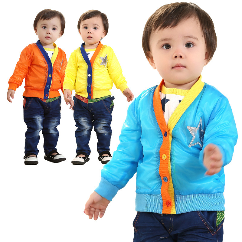 Anlencool New spring Free Shipping Spring European And American Street Style Newborn Boy Leather Suit Baby Clothes Sets Clothing jeans woman new real 2017 spring and summer european american style fashion lace pants denim trousers pencil feet free shipping