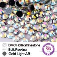 SS8 Crystal AB Gold Light DMC Rhinestones 10 Gross Bag CPAM Free Brides Stones Wholesale