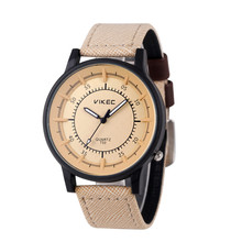 Fashion Casual Men's Leather Stainless Steel Band Buckle Military Analog Quartz Wrist Watch Clock Men Relogio Masculino
