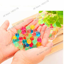 500pcs/bag Water Beads Home Decor Pearl Shaped Crystal Soil Bio Gel Ball For Flower/Weeding Mud Grow Magic Jelly Balls(China)