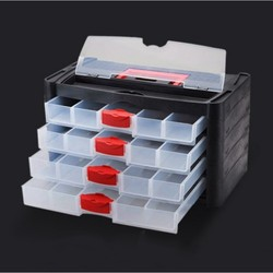 Skrzynka narzędziowa praktyczna ABS plastikowa nakrętka przybornik śrubokręt sprzęt narzędzie do naprawy samochodów box typ szuflady schowek|Skrzynki z narzędz.|   -