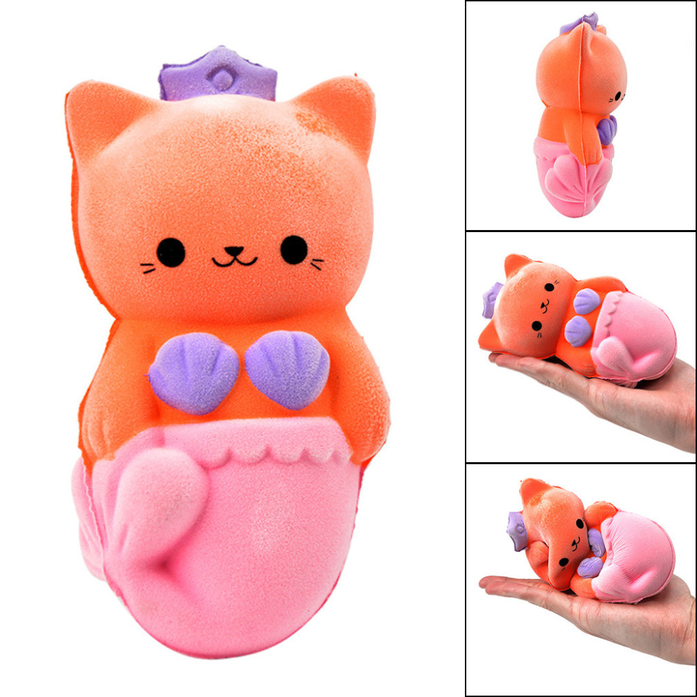 Furry Beauty Cat ScentedSlow Rising Squishies Toy Squishes Stress Relief Toy For Kids  Kawaii Stationery Wipes Anti-stress D4