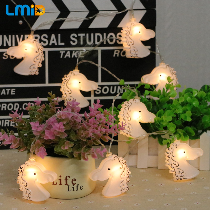 LMID 2M 3M 4M 5M LED Battery String Light Horse Head String Fairy Party Wedding Patio Christmas Decoration ...