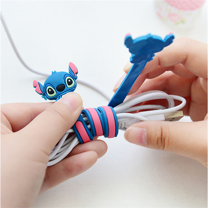 Cartoon USB Cable Bite Cute Animal Cable Protector For Iphone Accessory Data Line Protection Winder Cord Protect Cable Bites