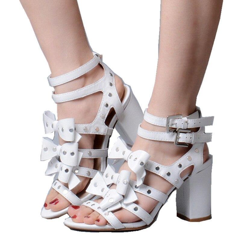 9232648e Tobillo Stilettos De Tacones Del Chaussures Mujer Correa Altos Femme  Gladiador Apricot Arco blanco Hebilla La Zapatos Sandalias Mujeres Cuero  Gruesos ...