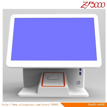 new stock i5 cpu 4G 64G SSD 15.6 inch touch screen pos system have 58 mm printer inside
