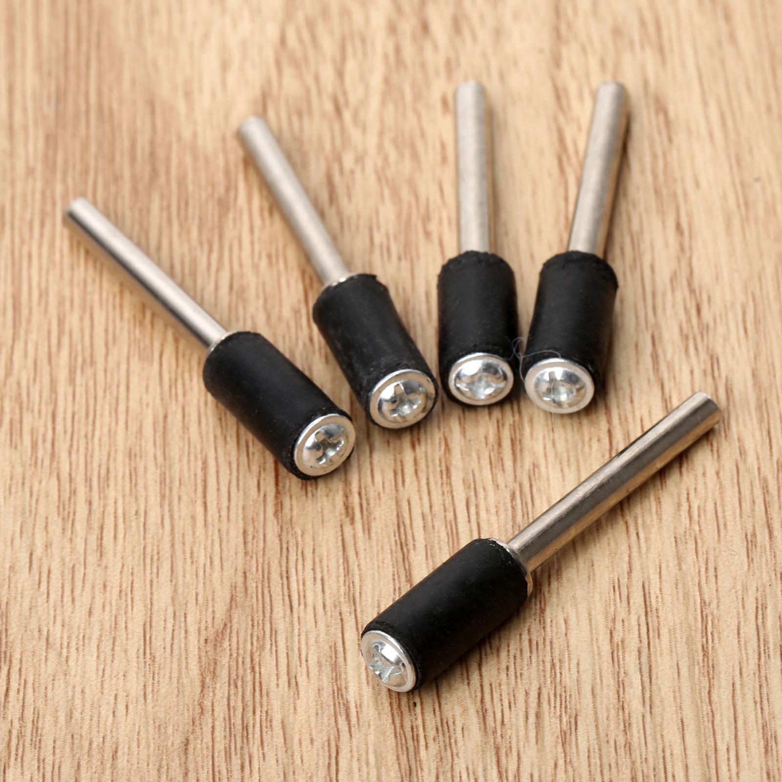 10Pc Accessori Dremel Mandrino in gomma tamburo 6,35 mm Asta da 2,35 - Utensili abrasivi - Fotografia 3