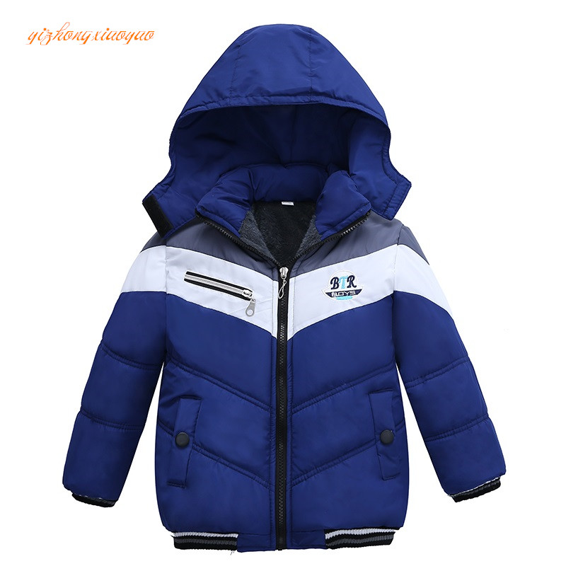 Подробнее о 2017 New Fashion Patchwork Boys Jacket&Outwear Warm hooded Winter jackets for boy Girls coat Children Winter Clothing Boys Coat new 2017 baby boys children outerwear coat fashion kids jackets for boy girls winter jacket warm hooded children clothing