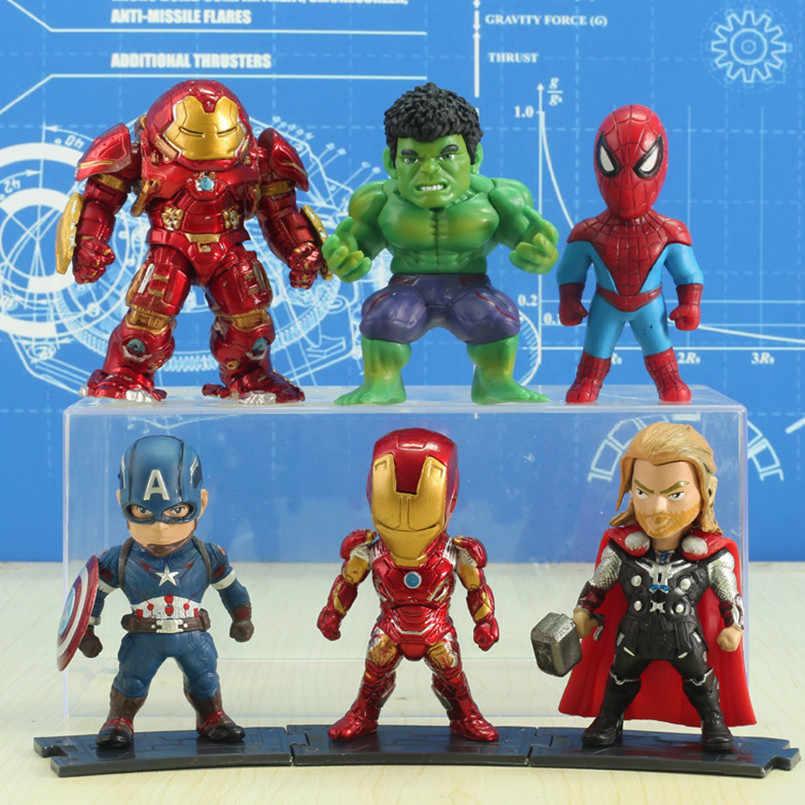 10 CM 4 Anime figura veneno spiderman Marvel Avengers Homem De Ferro Hulk/Deadpool Q Edição Boneca Decoração Do Carro modelo crianças brinquedos figma