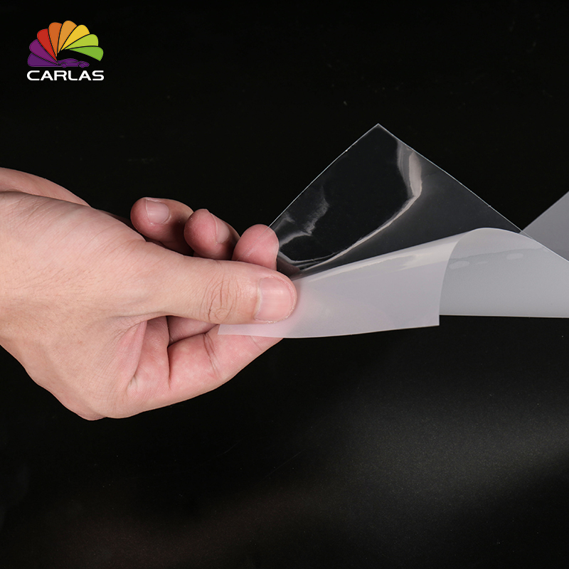 0 15x30mCARLAS Rhino Skin Car Bumper Hood Paint Protection Film Vinyl PVC Clear Transparence Film Sticker