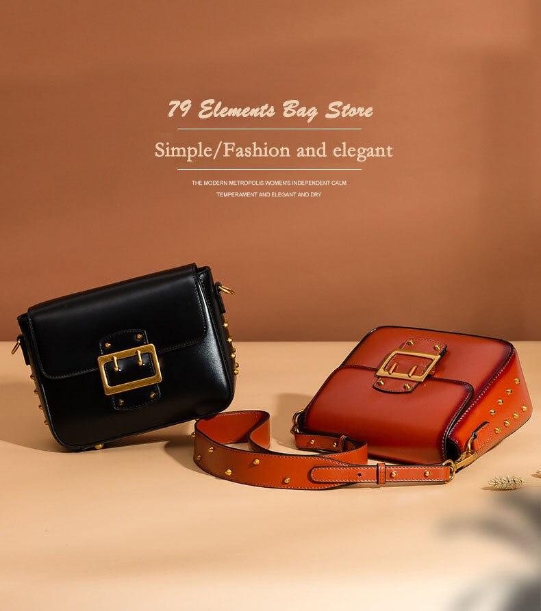 Vintage Real Leather Wide shoulder strap Handbag premium quality fashion genuine leather Shoulder Bags of Famous Brand (1)