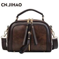 JI Хао Роскошные Модные одно плечо сумки Дамские туфли из pu искусственной кожи Кроссбоди сумка женская сумка Винтаж сумки