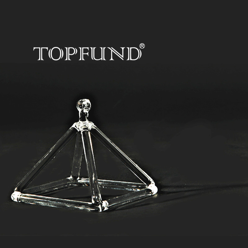 цена TOPFUND Clear Quartz Crystal Singing Pyramid 5'' - Perfect Healing Musical Instrument