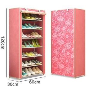 Image 5 - Eight Layers Modern Minimalist Thicken Non woven Shoe Storage Cabinet Creative DIY Assembly Dustproof  Shoe Organizer Shelf Rack