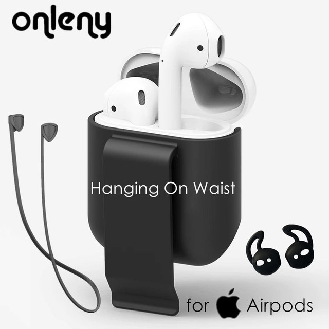 Cover for Airpods Hanging On Waist Protective Cover Silicone Strap Eartip Wireless Earphone Holder Bracket Pouch for air pods