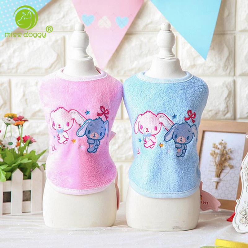 2017 new arrival spring and summer dog vests for sale fashion design with rabbit printed clothes for dogs pet clothes