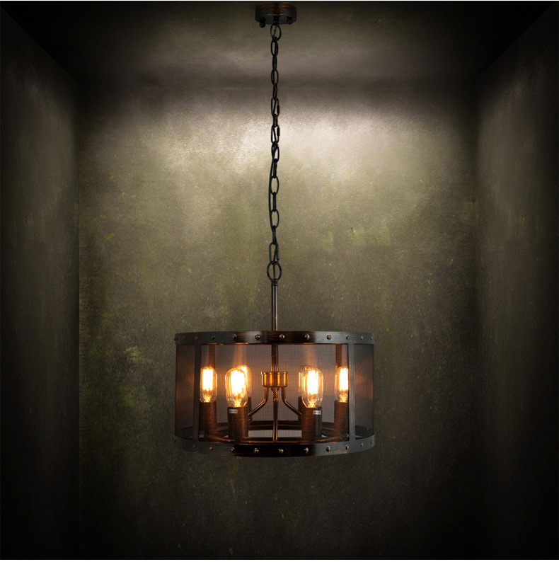 Loft Style Wrought Iron Vintage Pendant Lamp 6 Lamp Industrial Pipe Edison Bulb Light Fixture Bar Retro Art Deco Lighting vintage nordic retro edison bulb light chandelier loft antique adjustable diy e27 art spider pendant lamp home lighting
