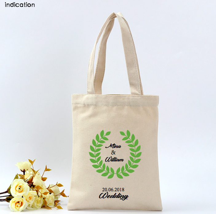 100pcs/lot Customized With Your Logo Canvas Cotton Tote Bag Fashion Plain Nature Cotton Canvas Shoulder Bags Casual Eco Bag tote bag