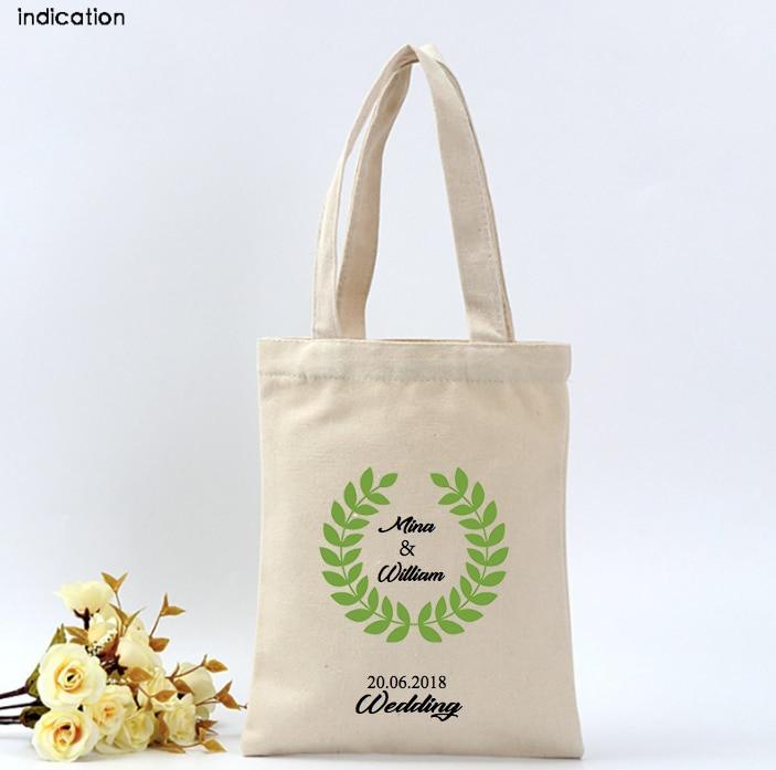 100Pcs/Lot Customized With Your Logo Canvas Cotton Tote Bag Plain Nature Cotton Canvas Shoulder Bags Eco Bag