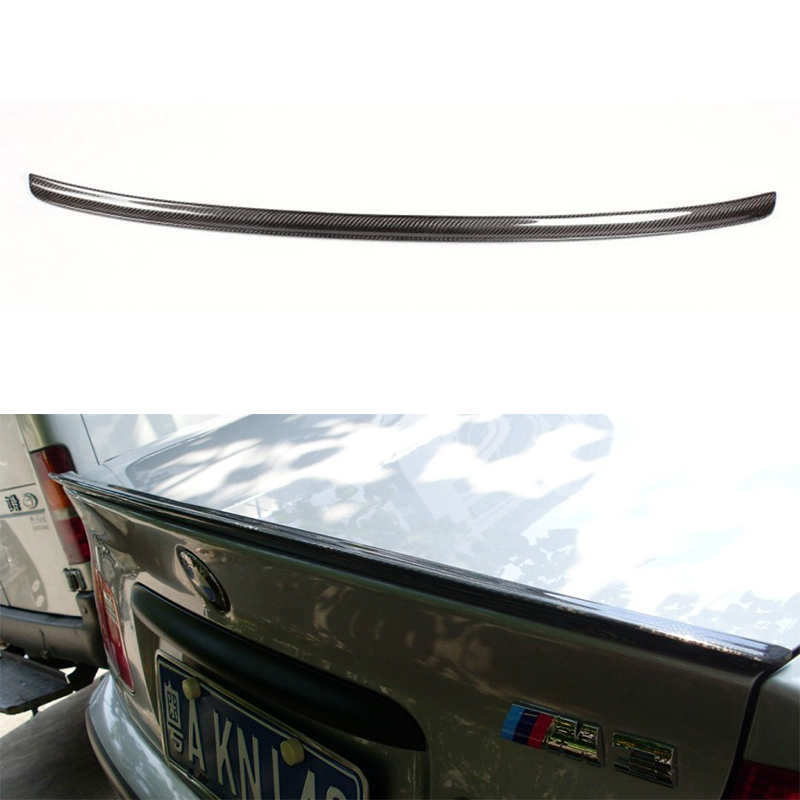 M3 Style E46 carbon fiber Rear Trunk Boot Lip Spoiler Wing for BMW E46 sedan 4 door 1999~2004