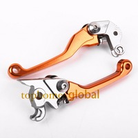 For KTM 450 EXC SIX DAYS 2004 2005 2006 CNC Pivot Brake Clutch Levers Motocross Replacement
