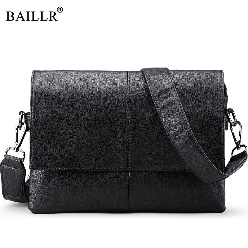 BAILLR Brand Men Bags male Shoulder Crossbody Bags Messenger Small Flap Casual Handbags men pu Leather Bag high quality casual