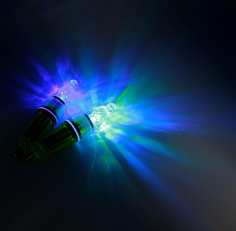 5pcs led underwater fishing lights color gathering flash light on, Reel Combo