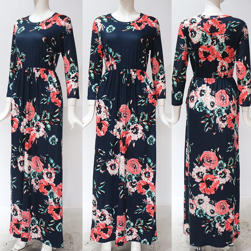 19 Summer Long Dress Floral Print Boho Beach Dress Tunic Maxi Dress Women Evening Party Dress Sundress Vestidos de festa XXXL 11