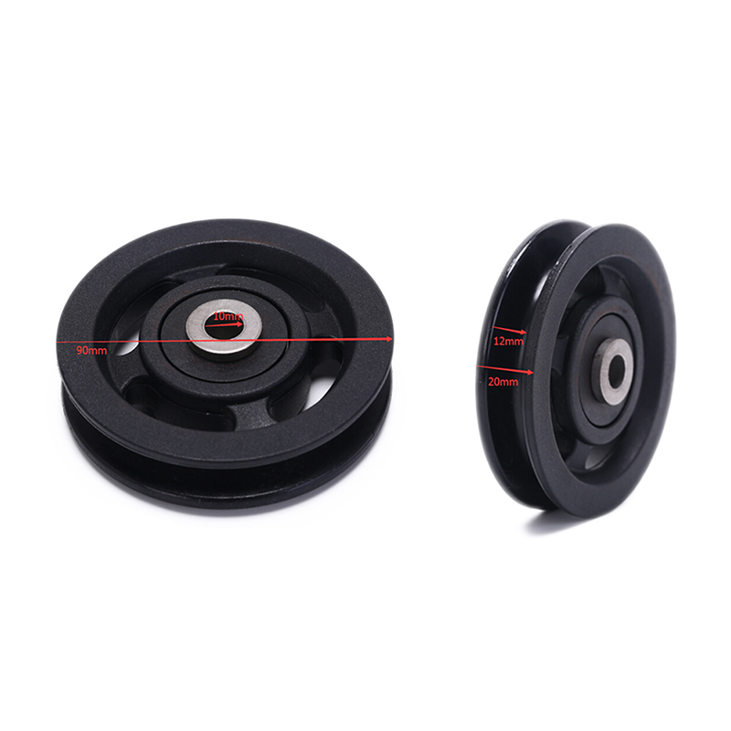 Bearing Pulley 50mm / 90mm Wearproof Nylon Bearing Pulley Wheel Cable Gym Universal Fitness Equipment Part