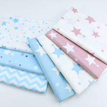 100% Cotton Star Printing Fabric Quilting Textile Twill DIY Sewing Baby Bedding Clothing