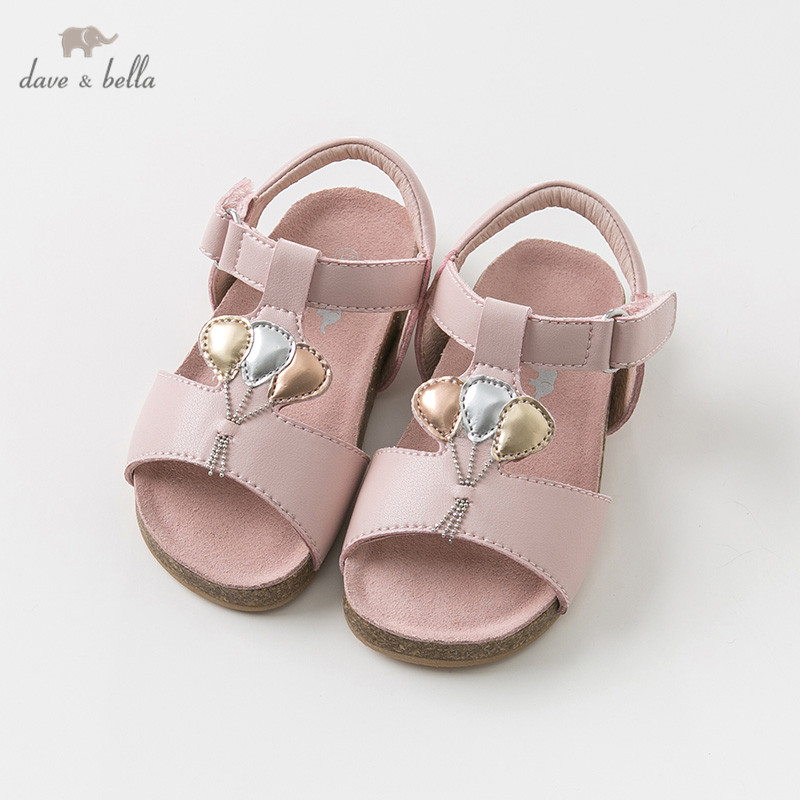 DB10256 Dave Bella Summer Baby Girl Sandals New Born Prewalkers Infant Shoes Girl Sandals Princesss Shoes