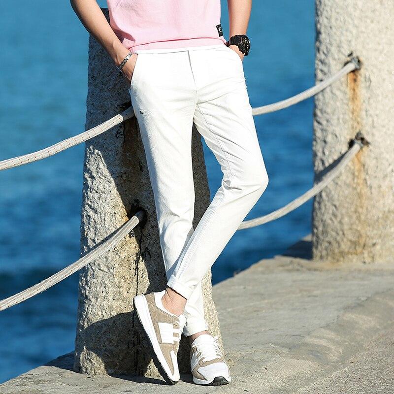 Casual Men Cotton Slim Fit Chinos Pants 1