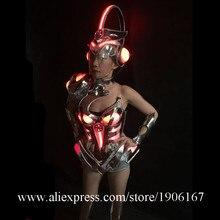 RGB подсветкой Sexy Lady вечернее платье Костюмы для бальных танцев костюм светодиодный свет красочный до одежда Танцы шоу на сцене бюстгальтер Костюмы