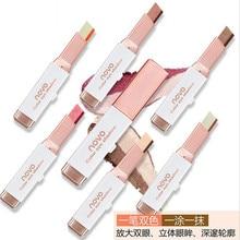 Double Color Eyeshadow Stick Stereo Gradien Shimmer Color Eye Shadow Cream Pen Eye Makeup Palette Co