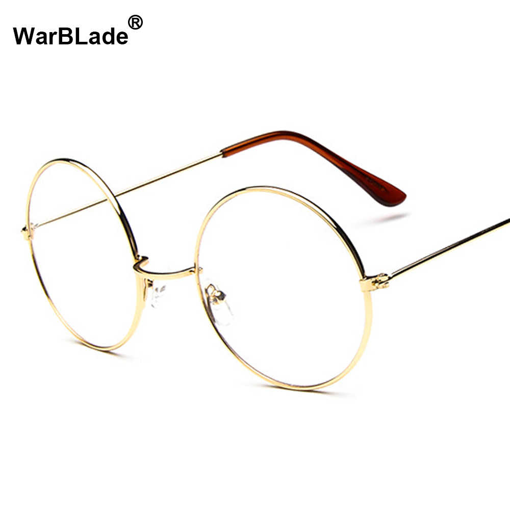 Putaran Batal Kacamata Untuk Wanita Pria Retro Transparan Kacamata Palsu Putaran optik Kacamata Bingkai Komputer WarBLade