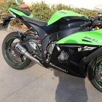 MOKALI Titanium alloy motorcycle exhaust for KAWASAKI ZX10R, moto escapment for ZX10R, motorcycle muffler for KAWASAKI ZX 10R