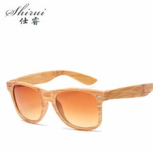 Luxury Vintage Sun Shade Men Wood Grain Gradient Sunglasses UV400 Protection Fashion Square glasses Women