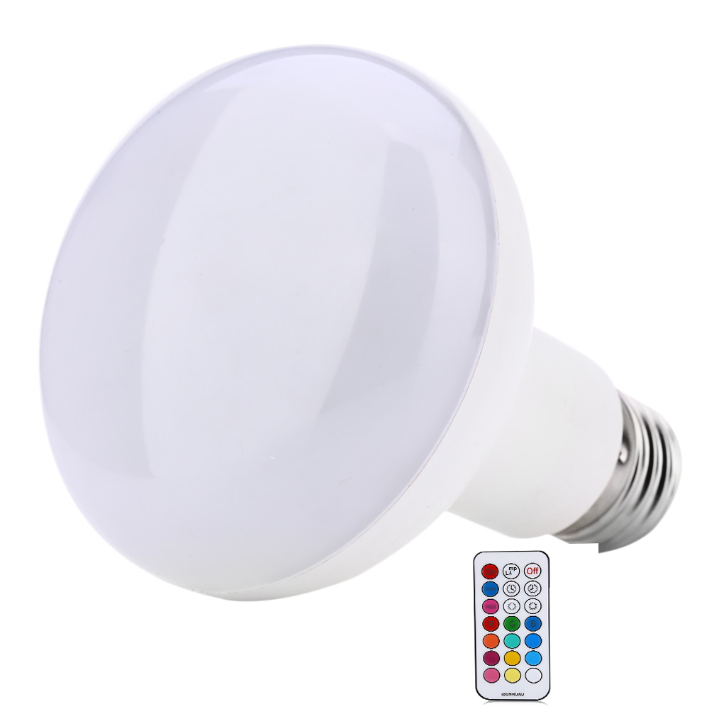 New arrivals RGB LED Light Bulb AC85-265V E27 10W Dimmable RGB LED lamp Color Changing light with Remote Control free shipping jr led e27 10w 500lm led rgb light bulb w remote control white silver ac 85 265v