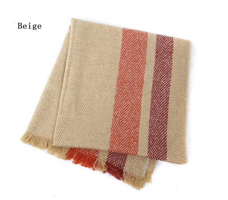 Striped Cashmere Scarf | Shawls and Wraps | Up to 60% Off Now