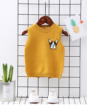 Clothing Sweater Vest Spring Autumn Baby Children's New Casual Pullovers Backing 2-6-Years-Old