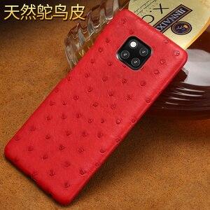 Image 2 - אמיתי יען עור טלפון מקרה עבור Huawei P30 לייט P20 P40 פרו mate 20 Nova 5t P40 Lite Mate 20 lite P20 Lite P30 Pro Y9 Y7 P SMART 2019 לייט Y7 יוקרה חזרה כיסוי עבור כבוד 8X 20 פרו 10 20i